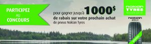 La Presse & Nokian Tires – Well Equipped for the Summer with Nokian – Win a grand prize of $1,000 gift certificate OR 1 of 4 minor prizes