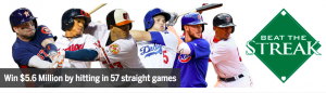 MLB Advanced Media – Beat the Streak – Win a grand prize of US$5,600
