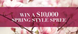 Oakridge Centre – Spring Style Spree – Win $1,000 Spring Style Shopping Spree