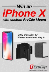 ProClip – Win an iPhone X with custom ProClip Mount