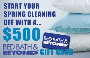 SmartStop Self Storage – Win an e-Gift Card of Bed Bath & Beyond valued at $500