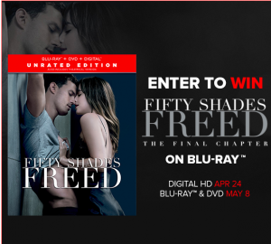 Tribute Publishing – Win 1 of 10 copies of Fifty Shades Freed on Blu-ray valued at $29.99 CDN each