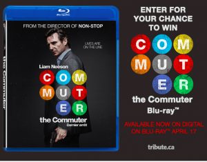 Tribute Publishing – Win 1 of 10 copies of The Commuter on Blu-ray valued at $29.99 CDN each