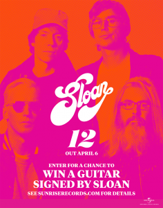 Universal Music Canada – Win a Sloan Autographed Guitar valued at $500