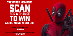 7-Eleven Canada – 7Rewards Deadpool – Win 1 of 8 pre-paid gift cards valued at $200 each