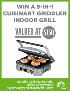 Alberta Turkey – Win a 5-in-1 Cuisinart Griddler Indoor Grill valued at $150