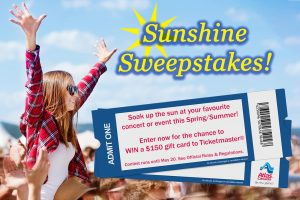 Atlas Van Lines – Sunshine – Win a $150 Ticketmaster Gift Card