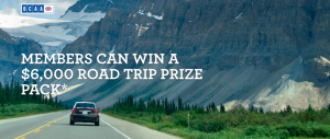 BCAA – Road Trip – Win a grand prize package valued at $6,000