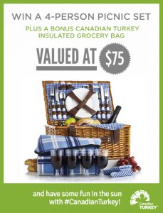 Canadian Turkey – Win a 4-person picnic set valued at $75