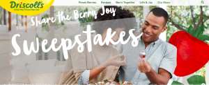 Driscoll – Share the Berry Joy – Win Berries for a Year valued at $330 CAD