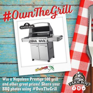 Farm Boy – Win a grand prize package of a Napoleon Prestige 500 grill plus more