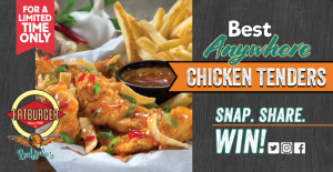 Fatburger Canada – Best Anywhere Chicken Tenders – Win 1 of 8 amazing prizes including a Paystation 4 Pro, Samsung Galaxy Tab and more