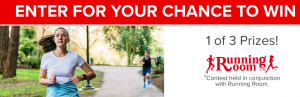 GoodLife Fitness – Win 1 of 3 prize packs of a One Year Membership & a $300 Gift Card to Running Room