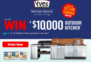 Hain-Celestial – Sizzling Summer – Fire Up Your Grill – Win a grand prize of an Outdoor Kitchen OR $10,000 cash equivalent prize OR Weekly prizes