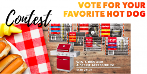 Lesters Food – Vote for your Favorite Lesters Hot Dog – Win a major prize of a Kitchenaid BBQ valued at $650 OR 1 of 5 minor prizes