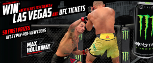 Monster Energy Canada – VIP UFC New Year's Eve Experience – Win a trip for 2 to Las Vegas valued at $7,500 CAD