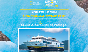 National Geographic Partners – Explorer Academy – Win an 8-day Family Adventure for 4 through Alaska' Inside Passage valued at $37,500
