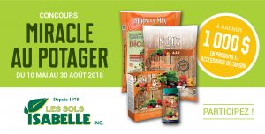 Reglement Du Concours – Miracle au potager – Win a $1,000 voucher to use towards Miracle Mix and NuMix products & plants and garden accessories