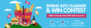 SaleWhale – Spring into Summer – Win a grand prize of a $100 gift card OR 1 of 10 weekly prizes of a $20 gift card each