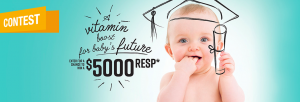 Sandoz Canada – A Vitamin Boost for Baby's Future – Win a $5,000 CDN RESP