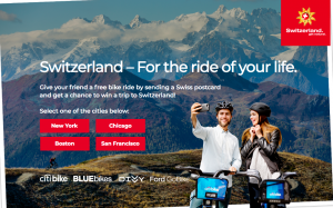 Switzerland Tourism – For the Ride of Your Life – Win a grand prize of a 7-day vacation in Switzerland OR 1 of 2 minor prizes