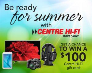 TC Media – Win a Centre Hi-Fi gift card valued at $100