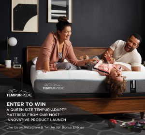 Tempur-Pedic Canada – Win a Queen size Tempur-Adapt Medium mattress valued at $2,999