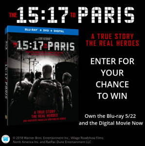 Tribute Publishing – Win 1 of 10 copies of The 15:17 To Paris on Blu-ray valued at $29.99 CDN each