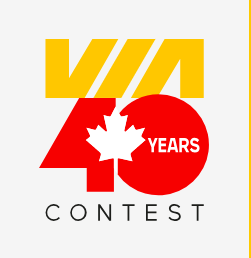 VIA Rail Canada – 40th Anniversary – Win 1 of 40 tickets for a panoramic ride to any destination on the VIA Rail network in Canada