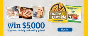 ACH Food Companies – Make It Outside with Fleischmann – Win a grand prize of $5,000 OR 1 of 34 minor prizes