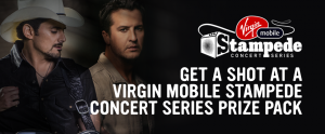 Bell Media & Virgin Mobile Canada – Win 1 of 2 prizes of a pair of tickets to 1 of 2 Virgin Mobile Stampede Concert Series valued at $1,500 each