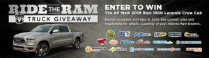 Golden West – Ride The Ram – Win a 2019 Ram 1500 Sport Crew Cab 4×4 valued at $75,210