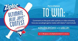 Let's Go Blue Jays – Win a prize package valued at up to $8,000 including a trip for 4 to attend the Team's regular season baseball game
