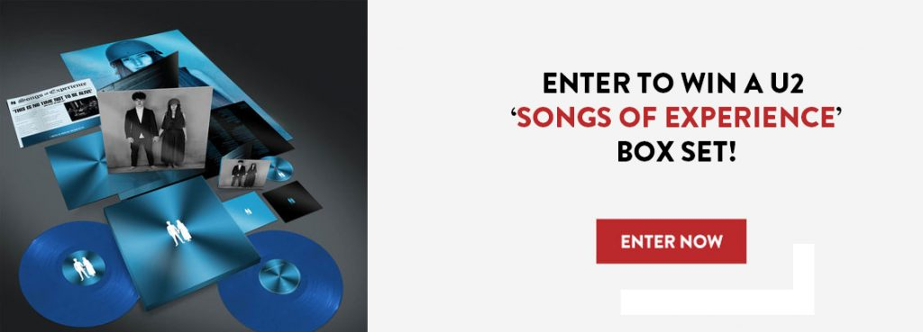 """Music Vaultz – Win a grand prize package of U2 """"Songs"""