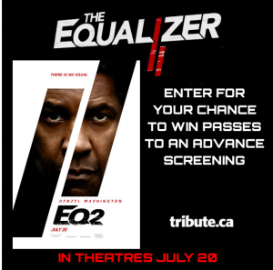 Tribute Publishing – Win 1 of 10 double passes to see The Equalizer 2 valued at $22 each