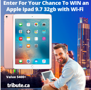 Tribute Publishing – Win an Apple iPad 32GB with Wi-Fi valued at $400