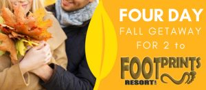 400Eleven – Win a 4-day Fall Colours Getaway for 2 at Footprints Resort
