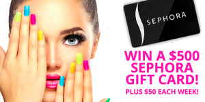 Black Flag Deals – Win a $500 Sephora Gift Card OR 1 of 17 minor prizes