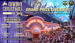 Las Vegas Events – Cowboy Christmas in July – Win a trip for 2 to the National Finals Rodeo in Las Vegas