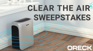 Techtronic Industries Canada – Win an Oreck Air Response Air Purifier valued at over $369