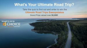 Trip Advisor Canada – Win an Ultimate Road Trip of your choice valued at up to $5,250 CAD