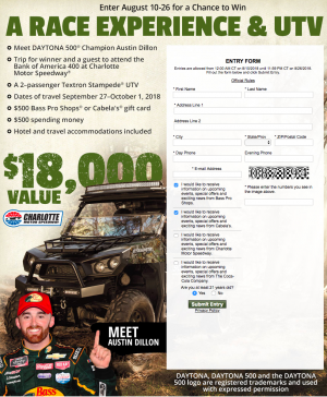 Bass Pro Shops – 2018 Fall Hunting Classic – Win a 2-passenger 2017 Textron Stampede UTV valued at $14,599 plus a trip for 2