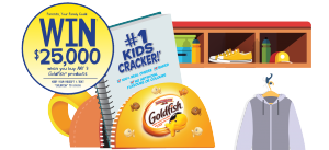 Campbell Company of Canada – Goldfish Back To School – Win a $25,000 CDN certified cheque