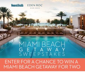 Hearst Magazines – Win a Women's Health Miami Beach Getaway for 2 valued at $1,700