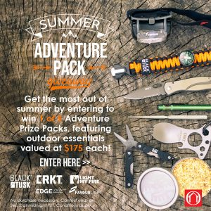 House of Knives – Win 1 of 5 Summer Adventure prize packs valued at $175 CAD each