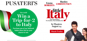 Pusateri's Fine Foods – Win a trip for 2 to Rome, Italy valued at $3,000