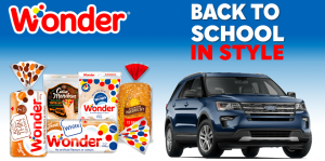 Weston Bakeries – Back To School – Win a grand prize of a 2018 Ford Explorer Limited SUV valued at $55,000 CDN OR 1 of 5 minor prizes of a $1,000 Co-op gift card each