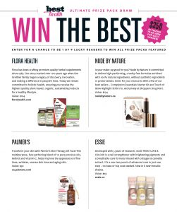 Best Health Magazine – Win 1 of 4 prize packages valued at $367 each