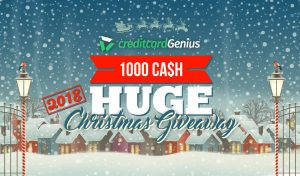 Creditcard Genius – Huge Christmas Giveaway – Win a major prize of a $500 cash OR 1 of 4 minor cash prizes