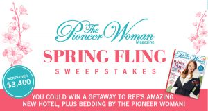 Hearst Magazine – The Pioneer Woman – Win a getaway for 2 to the new Pioneer Woman Boarding House in Pawhuska, Oklahoma valued at $3,405